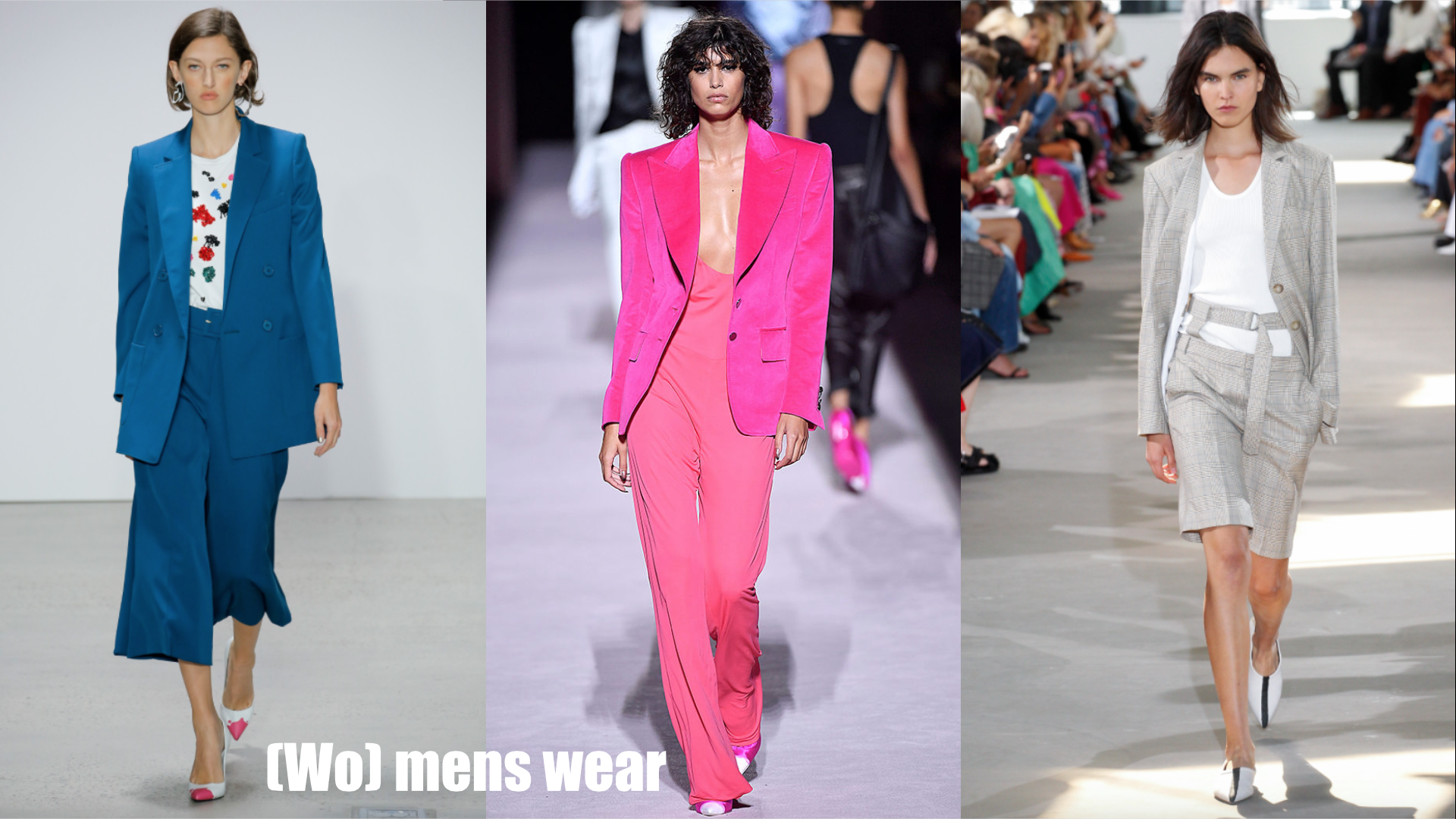 Seen at Oscar de la Renta/ Tom Ford/ Tibi/ Time to man up, because two piece suits were everywhere on the runway this season. Pair with a white top, or rock a totally monochromatic look. And to strike the perfect balance of masculine and feminine, chose a bright color, or shorter flirty pant.