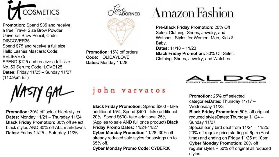 The Black Friday & Cyber Monday Deals you need to know about