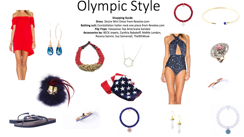 During the Olympic games it can be exciting to display your patriotic side by sporting the perfect red, white, and blue outfit!