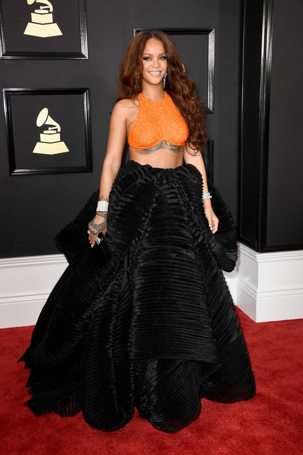 Rihanna in Armani Privé and Chopard jewelry