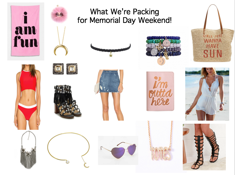 As the countdown to the long weekend is officially on, here's what we're packing for some fun in the sun! We're adding colors that pop with fun shoes that show of your pedi and of course great accessories, check out our Memorial Day Weekend inspirations here! Have a great holiday weekend xo