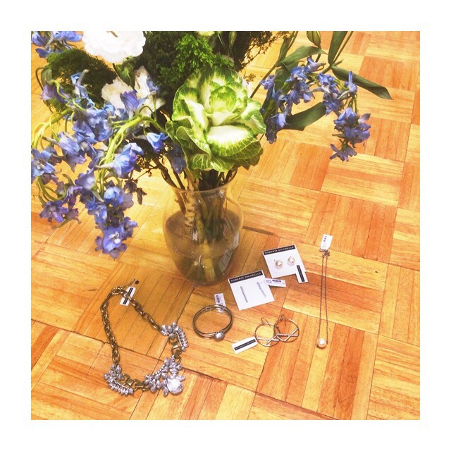 shipment of jewelry and flowers