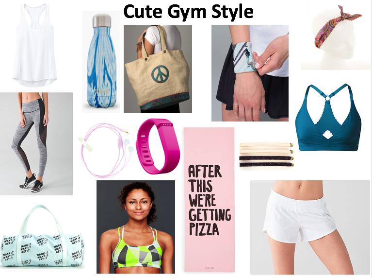 cute gym style