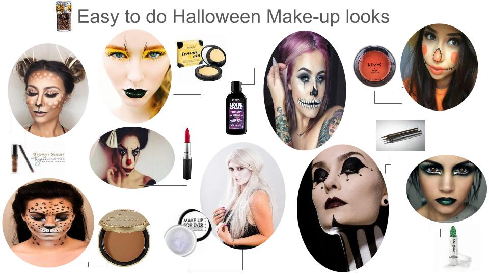 chic and easy halloween makeup