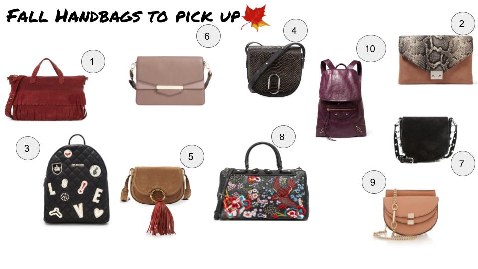 fall handbag accessories