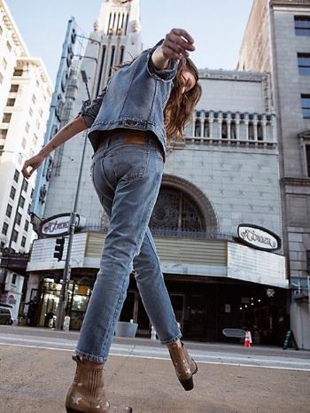 vintage denim skinny jeans