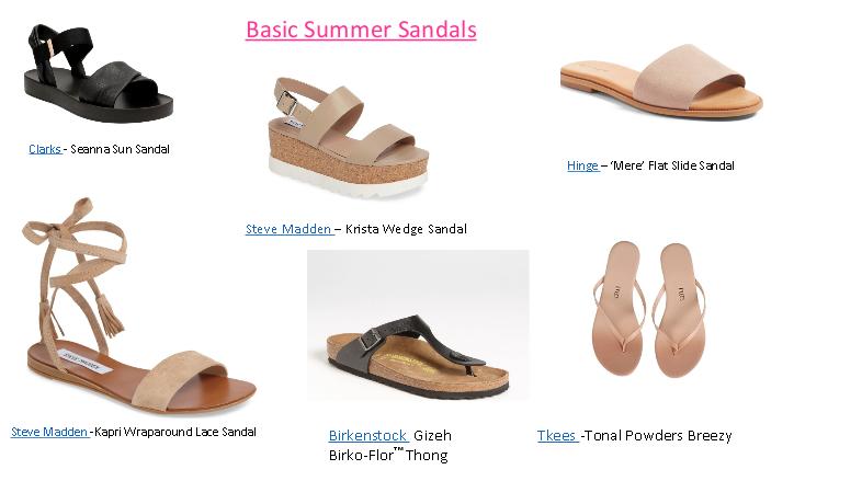 basic summer sandals
