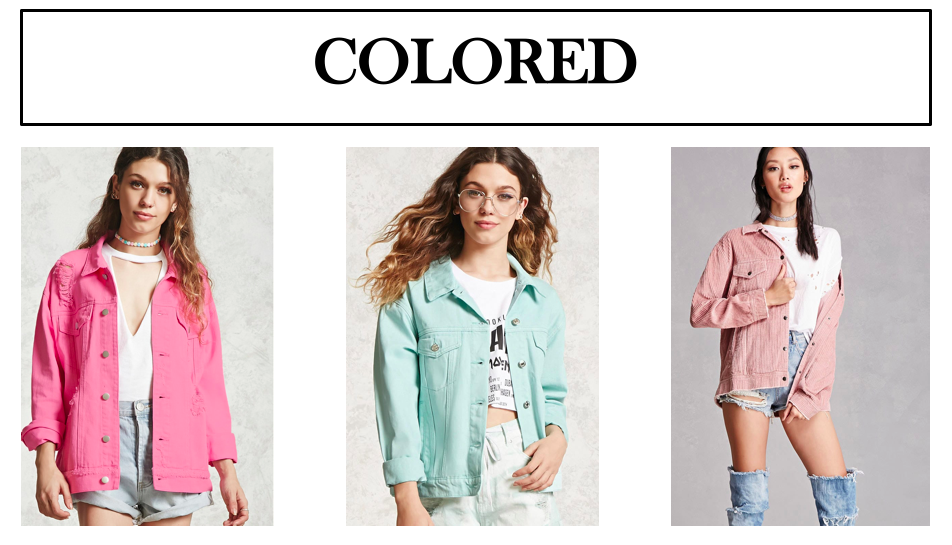 colored denim jackets