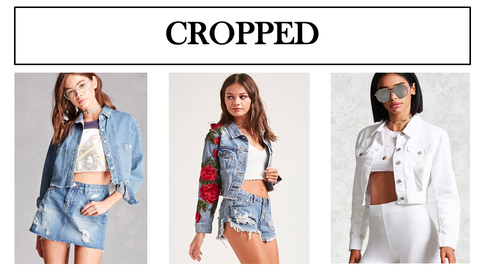 cropped denim jackets