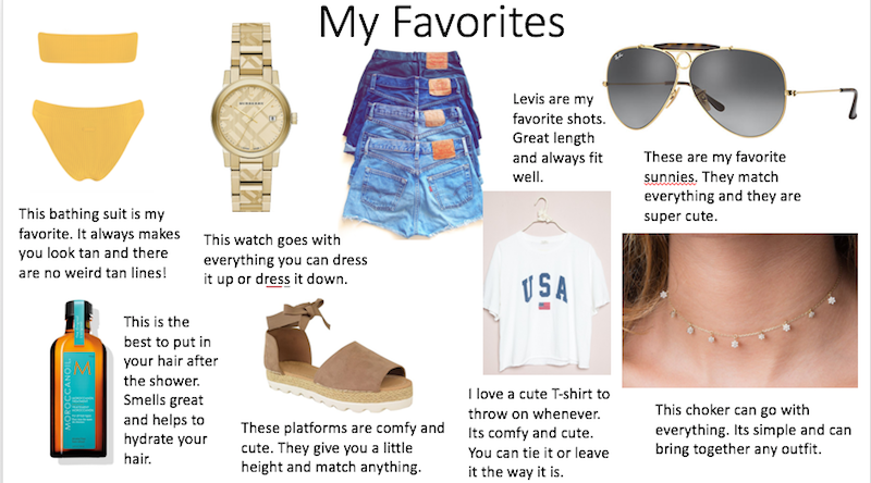 Summer Intern Kailey's Favorites Picks For The End of Summer