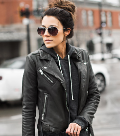 Leather Jacket a Casual Vibe